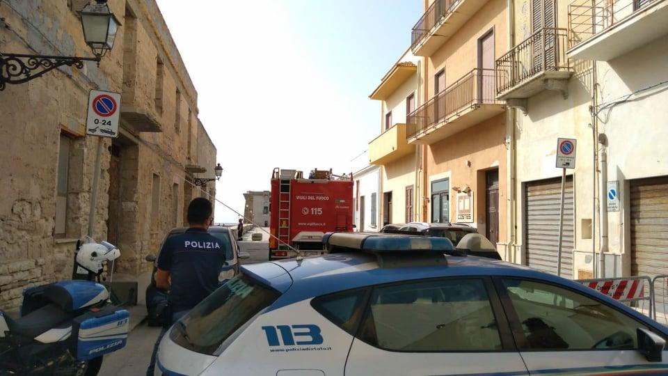 Trapani: crolla il soffitto di un magazzino in via Torre di Ligny