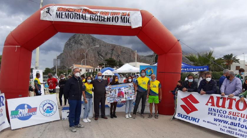 """Svolto il 13° Triathlon Sprint """"Memorial Roberto Miceli"""""""