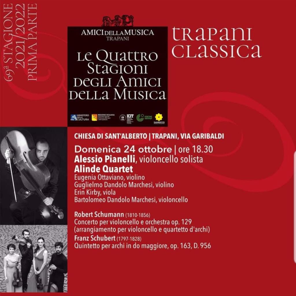 La Stagione Concertistica degli Amici della Musica di Trapani si fa ... in quattro