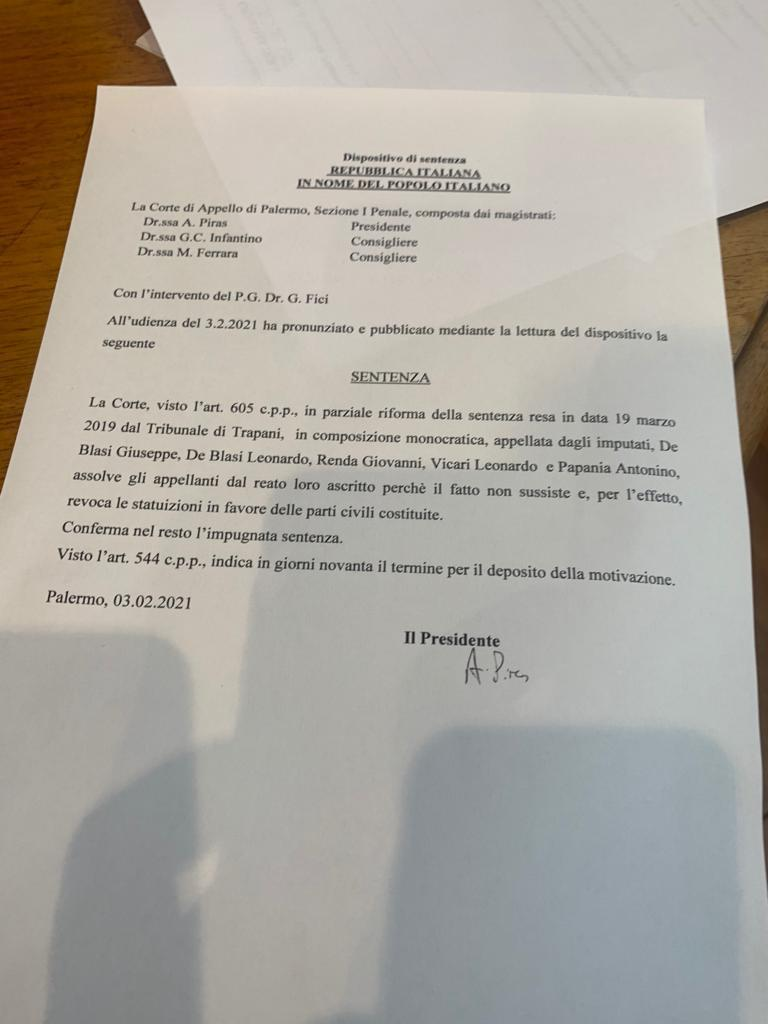 Corruzione elettorale: assolto Papania