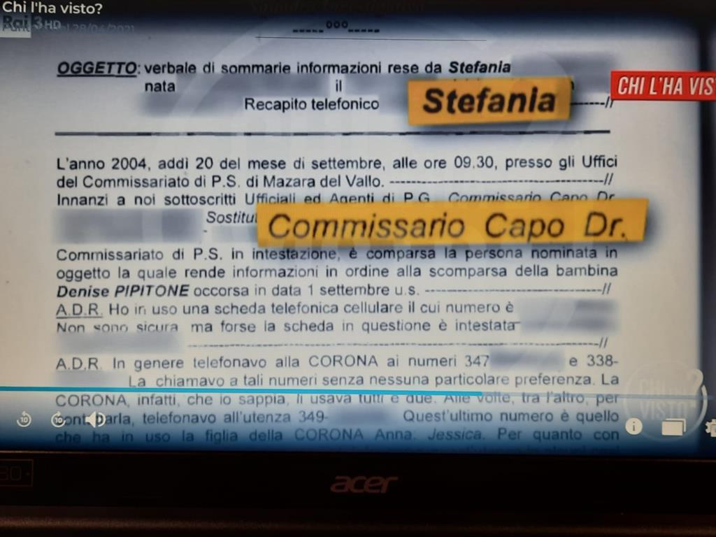 Caso Denise Pipitone: le telefonate tra Anna Corona e la donna che aveva una relazione con il commissario