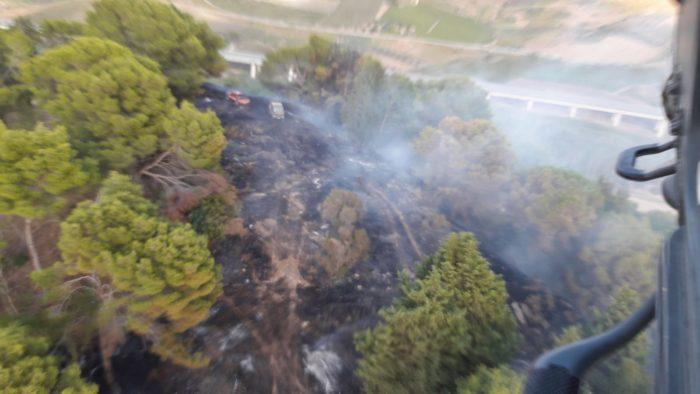 Incendio a Santa Ninfa, impegnato un elicottero dell'82° centro CSAR